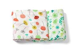 "Margaux & May 47"" X 47"" Organic Muslin Swaddle Blankets - Multi"