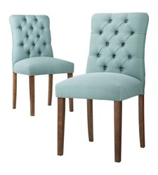 Threshold Brookline Tufted Dining Chair - Blue - One Chair