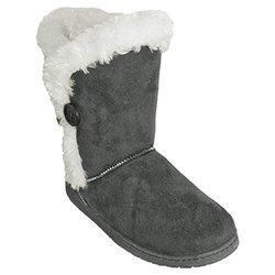 Dawgs's Women's 9 Inch 3-button Microfiber Boot: Grey/5