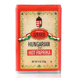 Pride of Szeged Hot Paprika Hungarian Style Box 4 oz