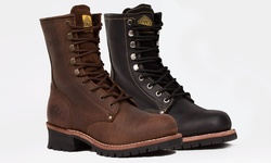 Bonanza Logger Work Boots: Brown/9