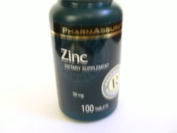 Pharmassure Zinc 50mg./100 Count