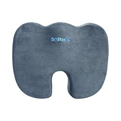 Softnia Coccyx Orthopedic High Density Memory Foam Seat Cushion - Gray