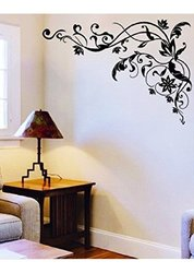 WallStickersUSA Wall Sticker Decal - Tribal Black Flower