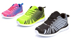 Women's Athletic Running Sneakers: Black/11
