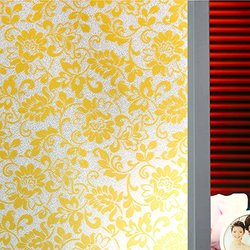 (0.6M X 2M) DuoFire Decorative Repositionable Non-adhesive Privacy Glass Window Film DP010G
