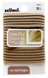 Scunci No Damage Beautiful Blends Blonde Elastics