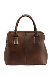 Satchel Handbag By Mia K. Farrow: Melaine/coffee