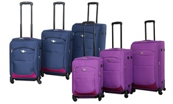 Rivolite 3 Pieces Spinner Wheel Luggage Set - Navy Blue