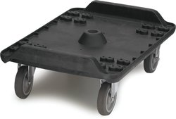 Carlisle MY41003 Cateraide Polyethylene Dolly with Casters for End Loader