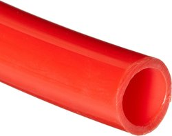 Small Parts Nylon 12 Flexible Tubing - Red - Size: 25' L