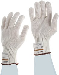 Ansell SafeKnit Two Strand Heavy Duty Cut Resistant Gloves - Small - Red