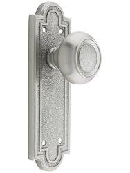 Emtek Belmont Door Set - Dummy Satin Nickel - Old Door Knobs