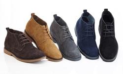 Men's Men's Leather Suede Boots: Tan/size 11