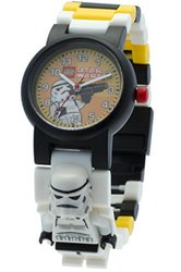 LEGO Kids' 8020424 Star Wars Stormtrooper Plastic Minifigure Link Watch