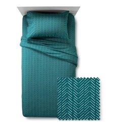 Room Essentials Jersey Print Sheet Set - Turquoise - Size: XL Twin