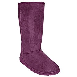 Women's 13-inch Microfiber Boots: Plum/size 8
