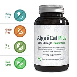 AlgaeCal Plus Dietary Calcium Supplement - 90 Veggie Capsules 1