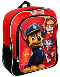 "Paw Patrol 14"" Backpack Boys Red Black"