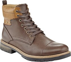 Marco Vitale Men's Color Cuff Laceup Work Boot - Brown - Size: 12