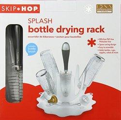 Skip Hop Splash Bottle Drying Rack w/ Brush - Translucent/Stainless