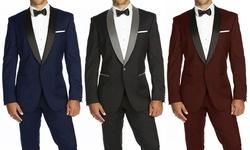 Braveman Men's Runway Tuxedo: Indigo/40rx34w