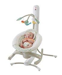 Fisher-Price 4-in-1 Smart Connect Cradle Swing (Beige/White/Green)