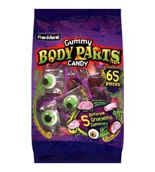 Frankford 65 Pieces Halloween Gummy Body Parts Candy - 17.2 oz