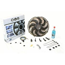 """Zirgo 263581 Super Cool Pack (Two 1019 fCFM 10"""" S Blade Fans, Fixed Temp Switch, Harness, and Brackets and Additive)"""