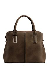 Satchel Handbag By Mia K. Farrow: Melaine/grey