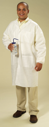 High Five Products AL352 SMS Lab Coat - White - 30Pk - Size: Medium