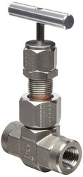 "Parker U Stainless Steel 316 High Temperature Needle Valve T-Bar 1/4"" NPT"