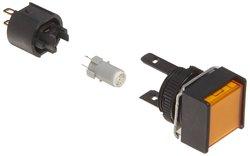Omron M165-AY-24D Cylindrical Indicator Display & Socket Terminal - Yellow