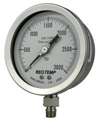 REOTEMP PR40S1A4P32 Heavy Duty Repairable Pressure Gauge Dry Filled