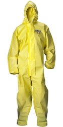 Lakeland ChemMax Seam Disposable Coverall with Hood - Yellow - Size: 2XL