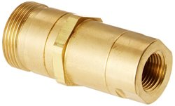 Eaton Hansen Brass Thread-to-Connect Hydraulic Fitting with Valve