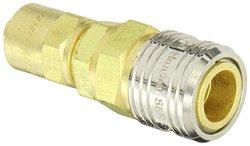 Eaton Hansen Brass Tru-Flate Interchange Ball Lock Pneumatic Fitting