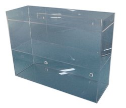 S-Curve Acrylic Laboratory Storage Shelf with 3 Shelves