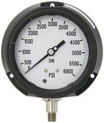 PIC Gauge Fillable Bottom Mount Process Pressure Gauge - 0/6000 psi Range