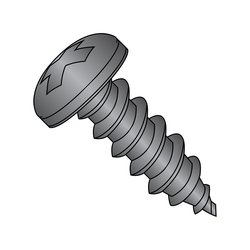 """Small Parts Steel Sheet Metal Screw - Black Oxide Finish - 5/8"""" Length"""