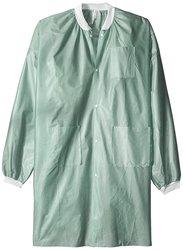 Medicom Lab Coats Knee Length 25 Packs - Army Green - Size: X-Large