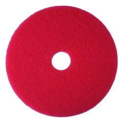 3M Red Buffer Pad 5100 Floor Buffer Machine Use 5 Pcks - Size: 23""