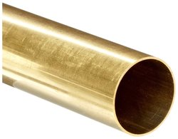 """Small Parts Brass C260 Seamless Round Tubing 15/16"""" OD 0.880""""ID 36"""" Length"""