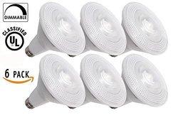 Sunco Lighting Dimmable LED Light Bulb Pack of 6 - 13 Watt