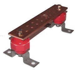 "Storm Power Wall Mounted Copper Ground Bus Bar Kit - 0.25"" x 2"" x 10"""
