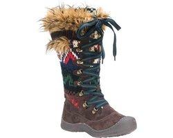 Muk Luks Gwen Women's Snow Boots: 16632-brown/10