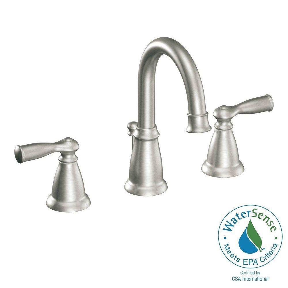 Banbury 8 Widespread 2 Handle High Arc Bathroom Faucet Brushed