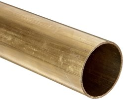 "Brass Round Tubing 2-1/2"" OD 2.37"" ID 0.065"" Wall 12"" Length"