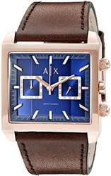 AX2225 Chronograph East-West Brown Leather Strap Watch Watch