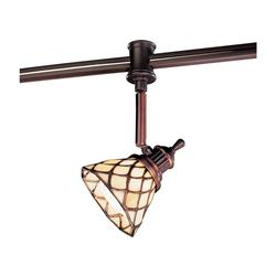 Hampton Bay 120V Flexible Track Head with Tiffany Shade - Antique Bronze